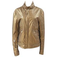 Dolce & Gabbana gold biker jacket