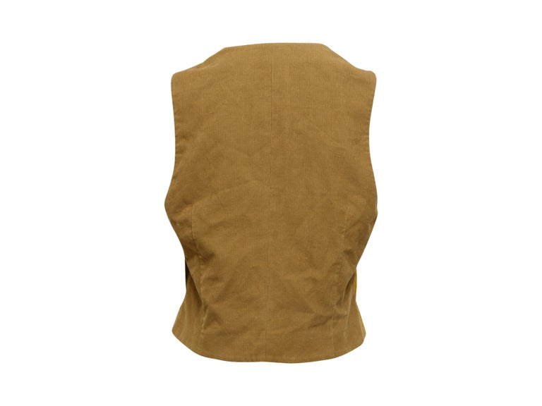 Dolce & Gabbana Gold Vest In Good Condition For Sale In New York, NY