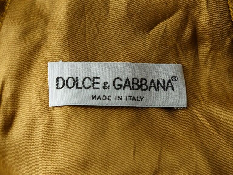Women's Dolce & Gabbana Gold Vest For Sale