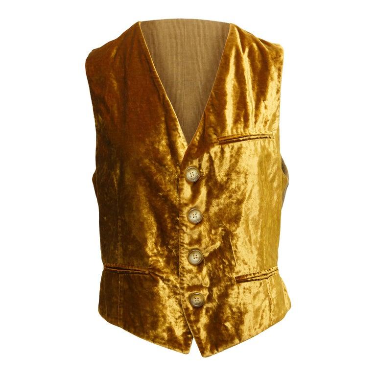Dolce & Gabbana Gold Vest For Sale