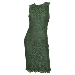 Dolce & Gabbana Green Lace Dress