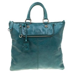 Dolce & Gabbana Green Leather Emy Top Handle Bag