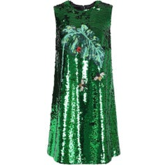 DOLCE & GABBANA Green Sequin Dress sz IT44 US 4-6