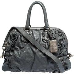 Dolce & Gabbana Grey Leather Miss Rouche Satchel