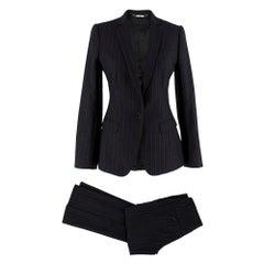 Dolce & Gabbana Grey Pin Striped Wool blend Trouser Suit SIZE 38 IT