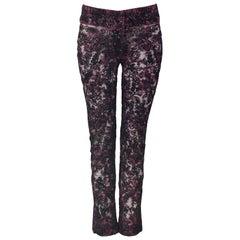 Dolce & Gabbana Heavily Beaded Lace Pants