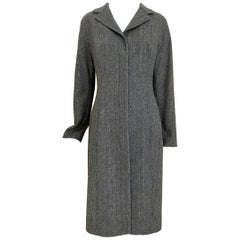 Dolce Gabbana Herringbone Wool Coat