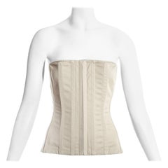 Dolce & Gabbana ivory cotton bustier corset, c. 1990s