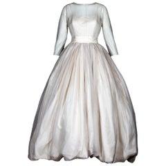 Dolce & Gabbana Ivory silk wedding dress with full balloon hem skirt, c. 1990s