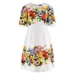 Dolce & Gabbana Jacquard Floral Print Dress 40 IT