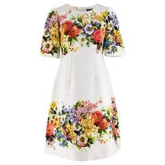 Dolce & Gabbana Jacquard Floral Print Dress - Size US 4