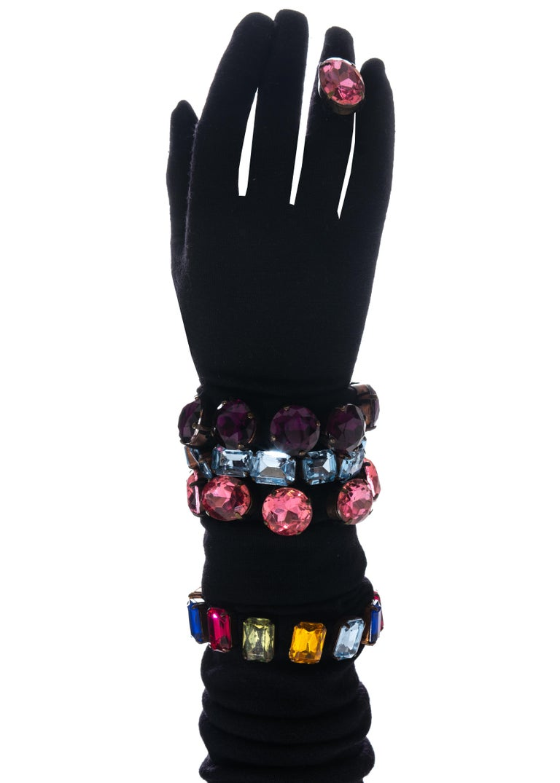 Black Dolce & Gabbana jewelled corset, mini skirt, shrug and gloves ensemble, fw 1991 For Sale