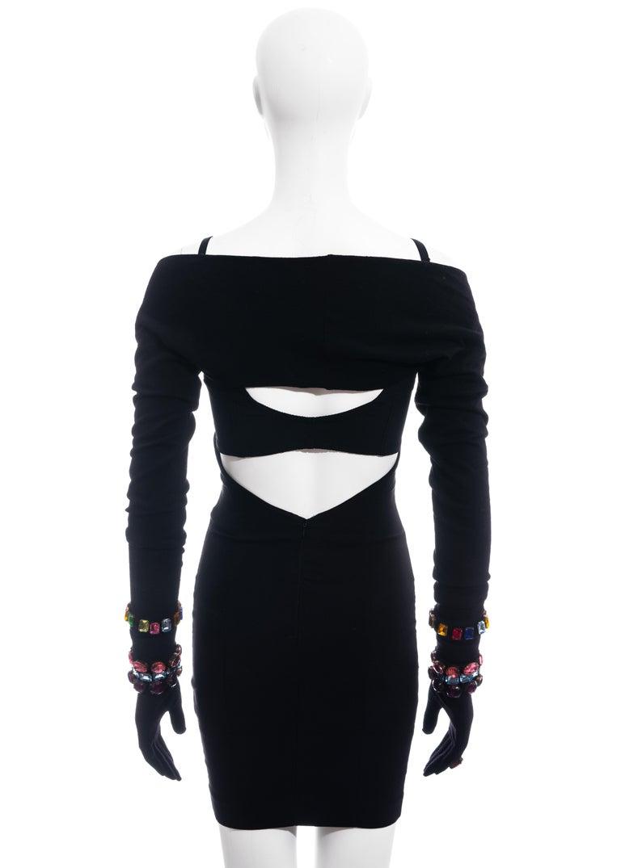 Dolce & Gabbana jewelled corset, mini skirt, shrug and gloves ensemble, fw 1991 For Sale 3