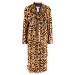 Dolce & Gabbana Kolinsky Fur Leopard Print Coat M 44