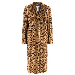 Dolce & Gabbana Kolinsky Fur Leopard Print Coat - Size US 8