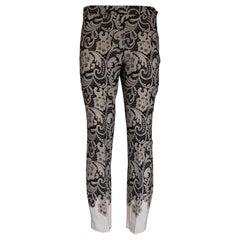 Dolce & Gabbana Lace Effect Pants IT 42
