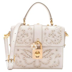 Dolce & Gabbana Lace Padlock cut-out Leather Top Handle Bag