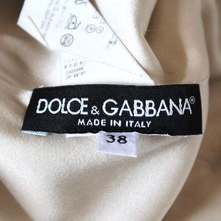 Women's Dolce & Gabbana Lace Printed Dress IT38 For Sale
