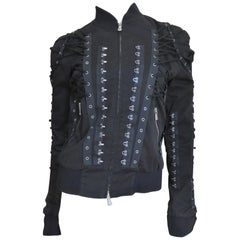 Dolce & Gabbana Lace Up and Hook Up Bomber Jacket
