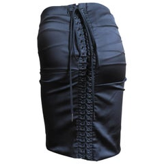Dolce & Gabbana Lace-up Back Silk Skirt