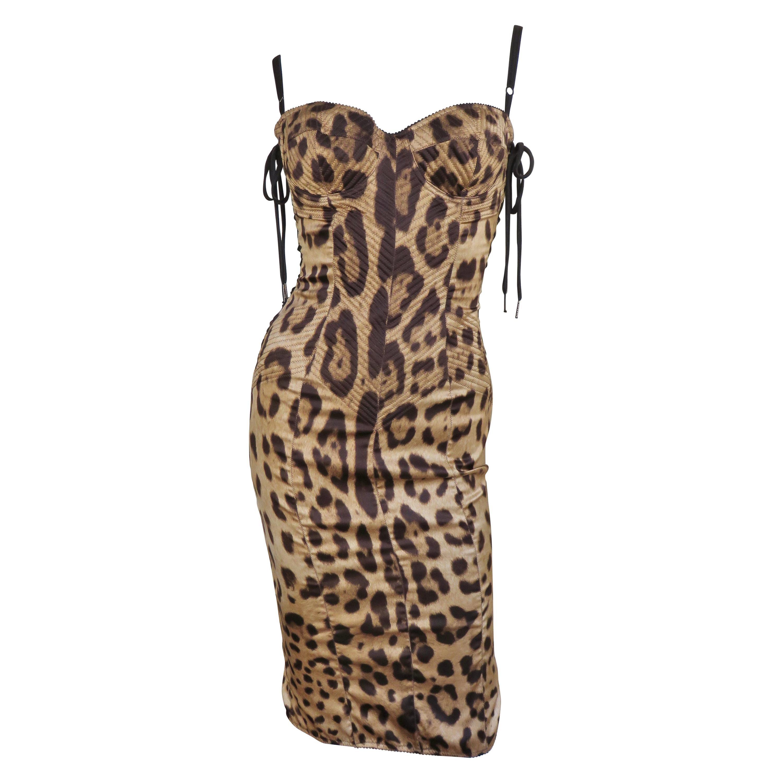 Dolce & Gabbana Lace up Sides Silk Dress
