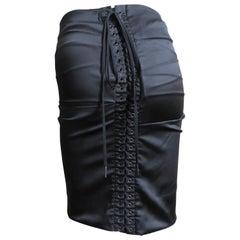 Dolce & Gabbana Lace up Silk Skirt