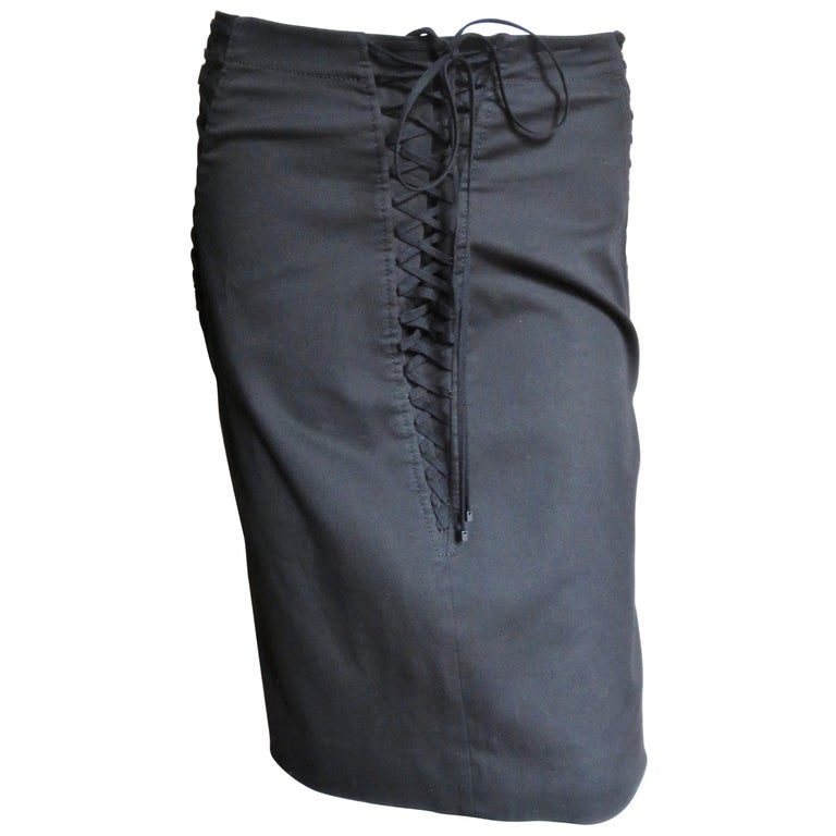 Dolce & Gabbana Lace Up Skirt For Sale