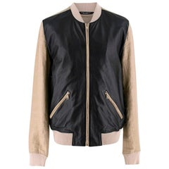 Dolce & Gabbana Leather Bomber Jacket UK 42