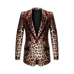 Dolce & Gabbana Leopard print 100% Silk blazer for Men