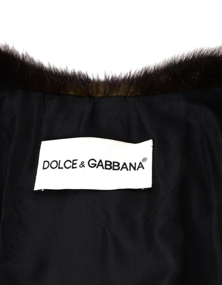 Dolce & Gabbana Leopard Print Fox Fur Coat Sz L In Excellent Condition In New York, NY