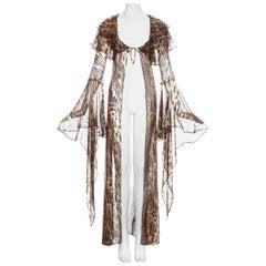 Dolce & Gabbana leopard print silk chiffon evening robe, ss 1997