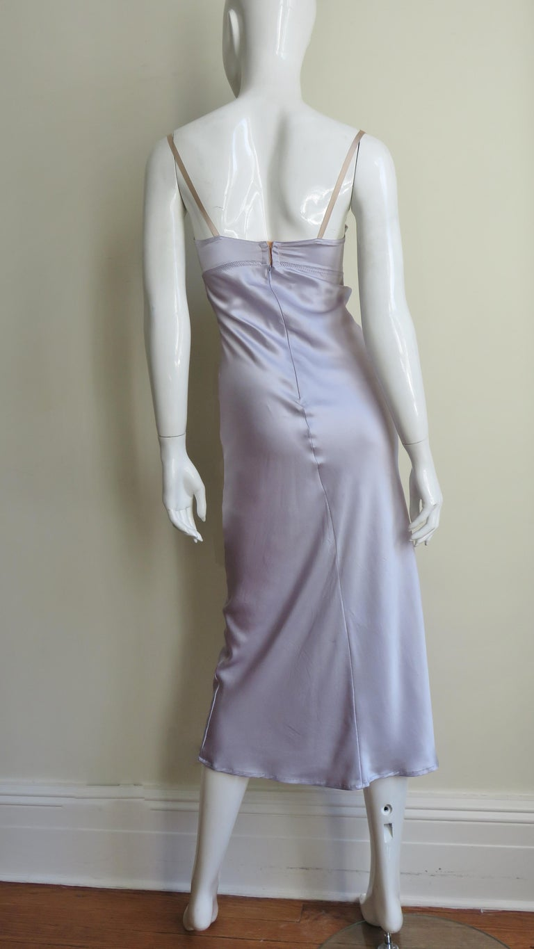 Dolce & Gabbana Lilac Silk Dress For Sale 8