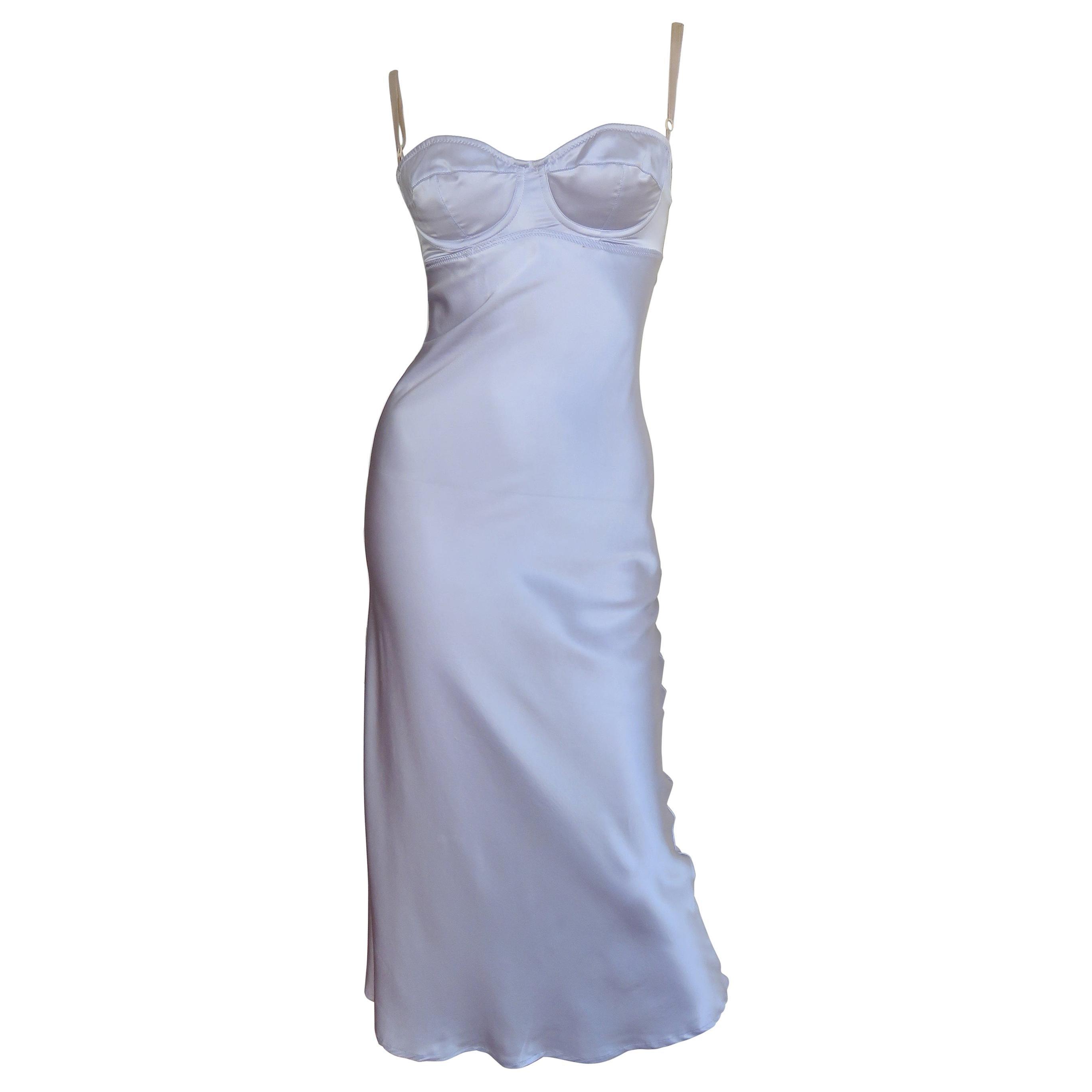 Dolce & Gabbana Lilac Silk Dress