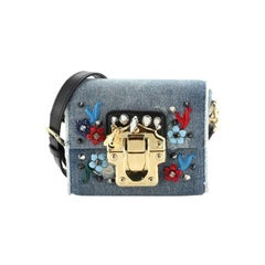 Dolce & Gabbana Lucia Shoulder Bag Embellished Denim Mini