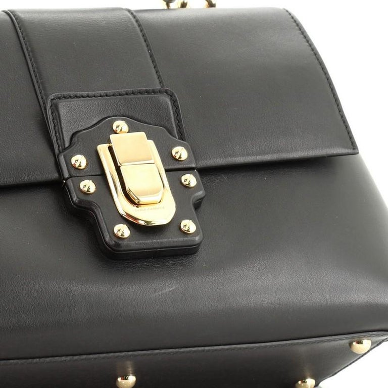 Dolce & Gabbana Lucia Top Handle Bag Leather Medium  For Sale 4