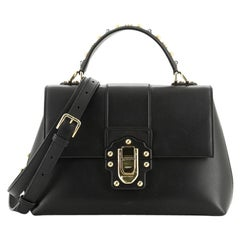 Dolce & Gabbana Lucia Top Handle Bag Leather Medium