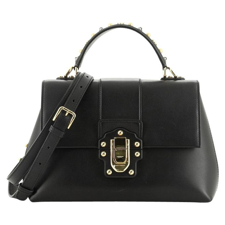 Dolce & Gabbana Lucia Top Handle Bag Leather Medium  For Sale