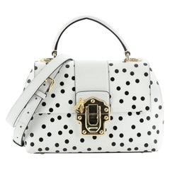 Dolce & Gabbana Lucia Top Handle Bag Printed Leather Medium