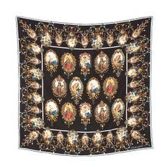 """Dolce & Gabbana """"Madonna"""" Print Silk Scarf"""