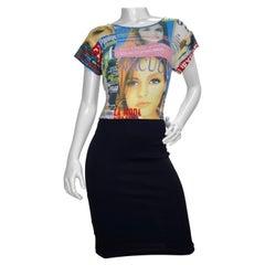 Dolce & Gabbana Magazine Print Dress