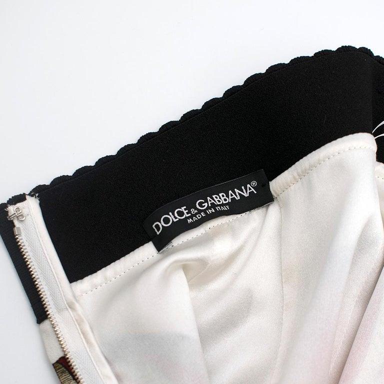 Women's Dolce & Gabbana Mandolin Print Pencil Skirt 42 IT For Sale