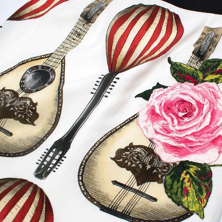 Dolce & Gabbana Mandolin Print Pencil Skirt 42 IT For Sale 3