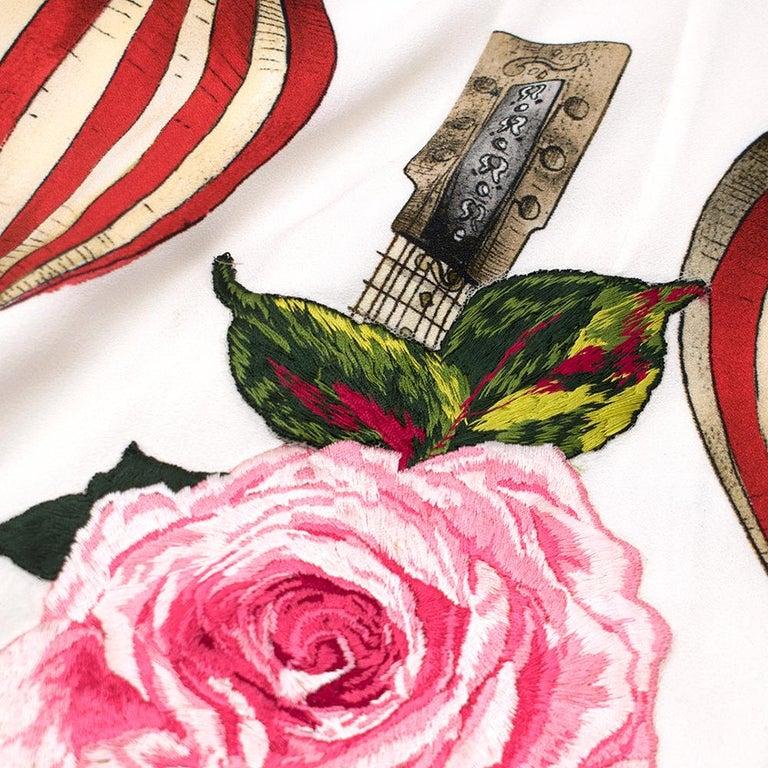 Dolce & Gabbana Mandolin Print Pencil Skirt 42 IT For Sale 4