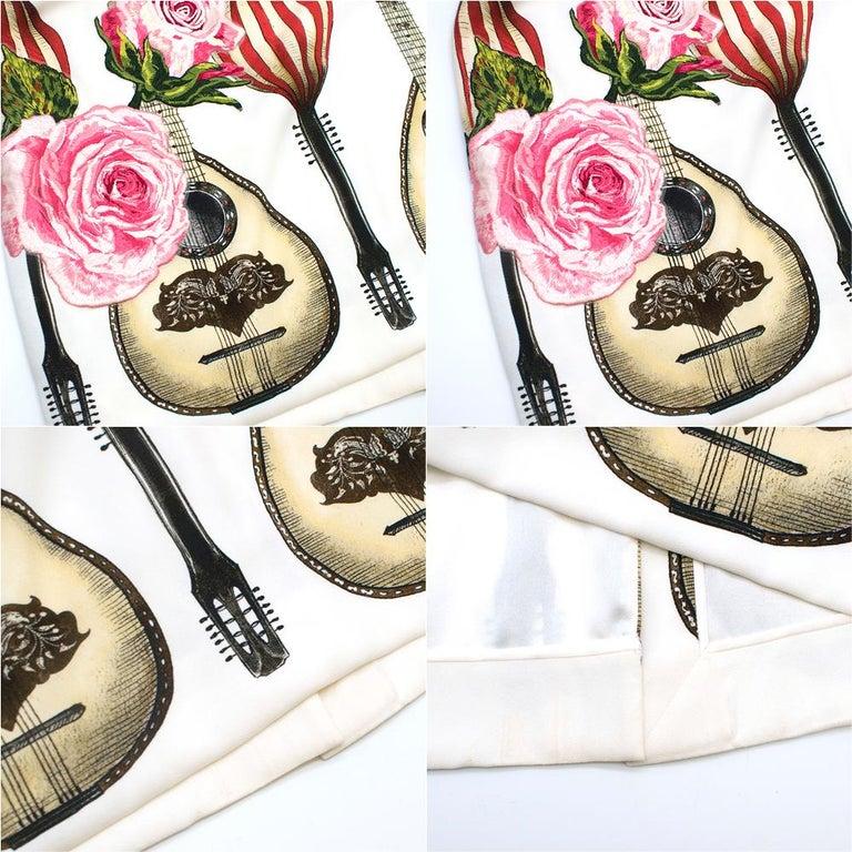 Dolce & Gabbana Mandolin Print Pencil Skirt 42 IT For Sale 5