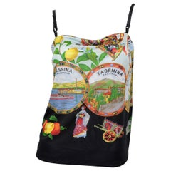 """Dolce & Gabbana Mare """"Isole Eolie"""" Printed Camisole Top"""