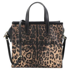 Dolce & Gabbana Market Shopping Tote Printed Coated Canvas and Leather Medium