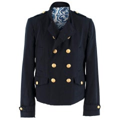 Dolce & Gabbana Men's Tailored Navy Double-Breasted Jacket - Size XL EU 52