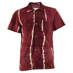 Dolce & Gabbana Mens Vintage Red Suede Shirt