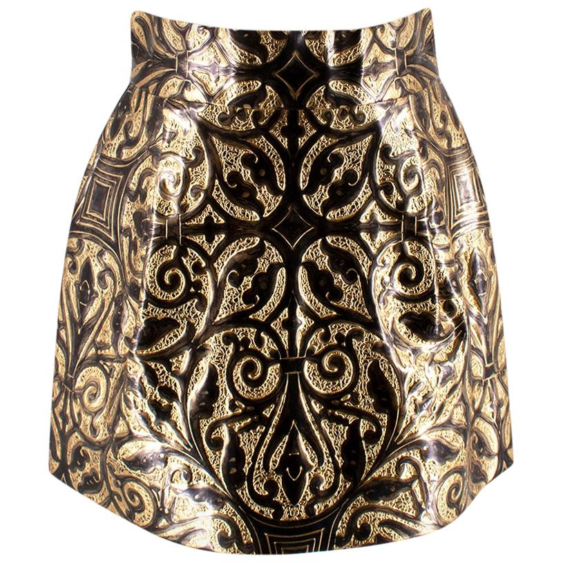 Dolce & Gabbana Metallic Embossed Brocade Skirt - Size US 6
