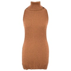Dolce & Gabbana metallic knit roll neck top - Size US 2